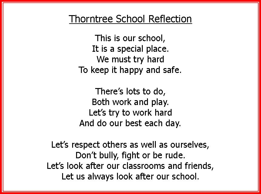 Thorntree School Reflection